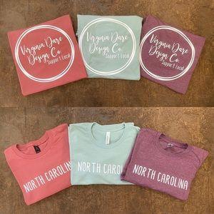 North Carolina t-shirts